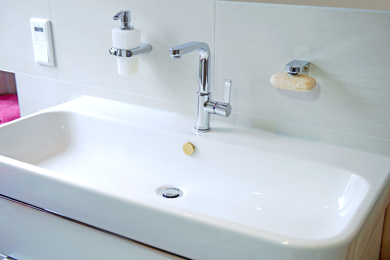 Design Überlaufblende KNOPPO® Waschbecken Überlauf Abdeckung gold Mirror