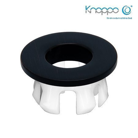 Knoppo Messing Design Eye Black brushed
