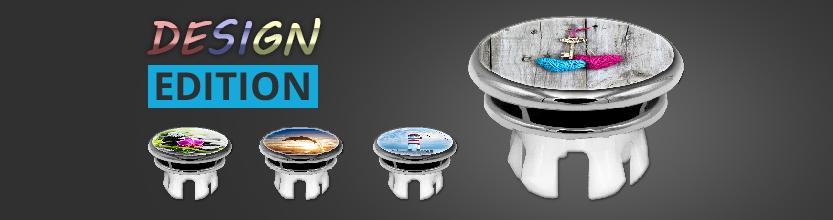 Waschbecken Design Motiv Abdeckung, Überlaufblende, Clip