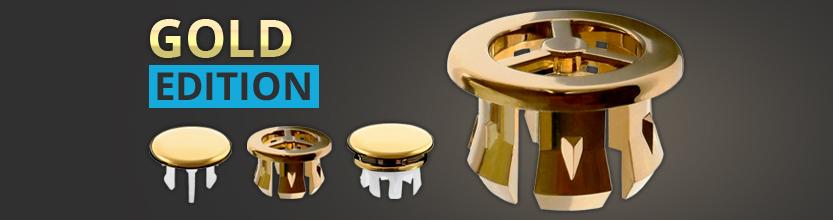 Waschbecken Design Gold Abdeckung, Überlaufblende, Clip