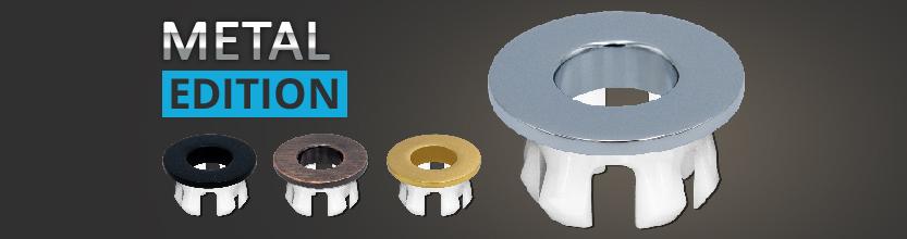 Waschbecken Design Metal Abdeckung, Überlaufblende Messing
